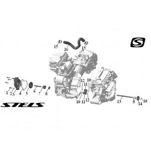 Элементы системы охлаждения ДВС, квадроцикл Stels Guepard 850G