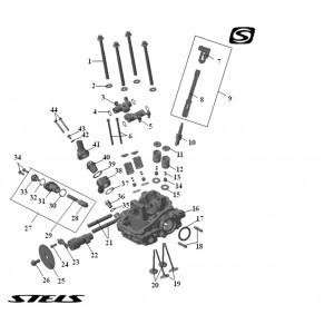 Головка цилиндра ДВС (передняя), квадроцикл Stels Guepard 850G