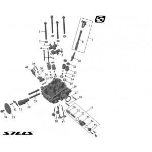 Головка цилиндра ДВС (задняя), квадроцикл Stels Guepard 850G