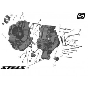 Корпус картера ДВС, квадроцикл Stels Guepard 850G