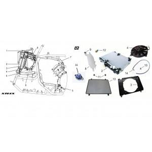 Система охлаждения ДВС, квадроцикл Stels Guepard 850G