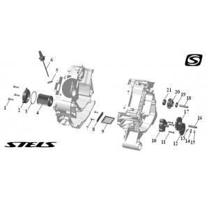 Система смазки ДВС, квадроцикл Stels Guepard 850G