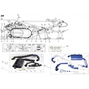 Система выпуска отработавших газов, квадроцикл Stels Guepard 850G