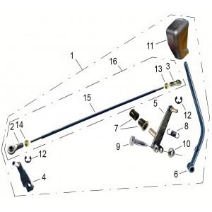 Механизм переключения передач, квадроцикл Stels Guepard 850G