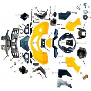 Облицовка корпуса, передняя часть, квадроцикл Stels Guepard 850G