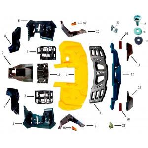 Облицовка корпуса, задняя часть, квадроцикл Stels Guepard 850G