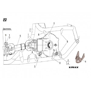 Вал карданный передний, квадроцикл Stels Guepard 850G