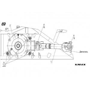 Вал карданный задний, квадроцикл Stels Guepard 850G