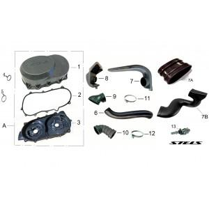 Вентиляция вариатора, квадроцикл Stels Guepard 850G