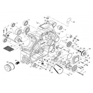 Картер двигателя (левая половина)
