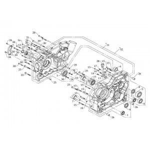 Картер двигателя (правая половина) и картер вариатора