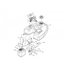 Бак топливный (инжектор)