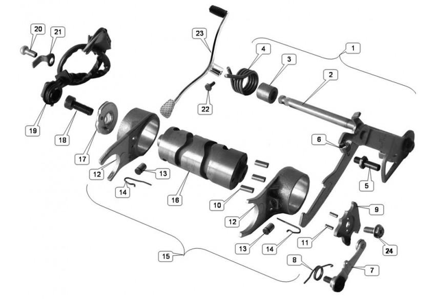1702 Механизм переключения передач