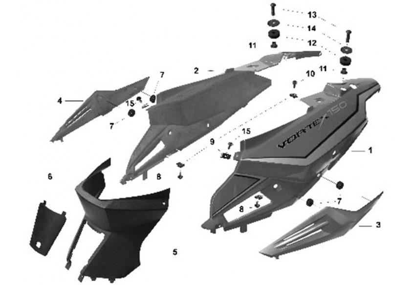 F-19 ОБЛИЦОВКА СИДЕНЬЯ