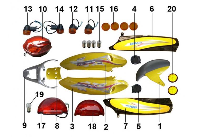 E-10 ОБЛИЦОВКА СИДЕНЬЯ, СВЕТОВОЕ ОБОРУДОВАНИЕ