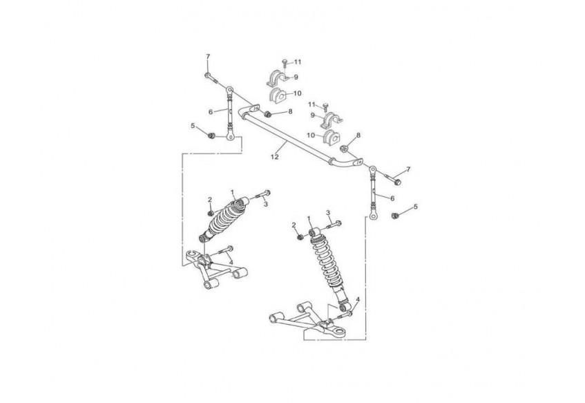 Передние амортизаторы и стабилизатор поперечной устоичивости