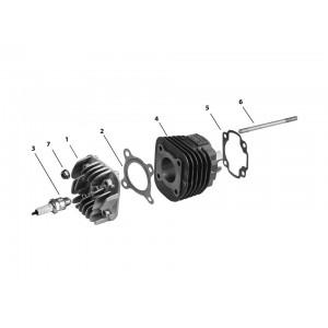 Головка и цилиндр двигателя