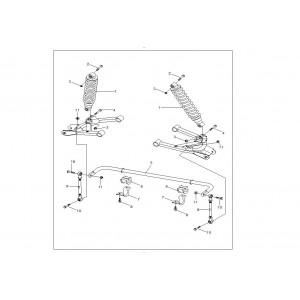 Передние амортизаторы и стабилизатор поперечной устойчивости
