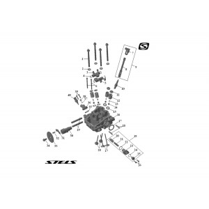 Головка цилиндра ДВС (задняя), квадроцикл Stels Guepard 650G
