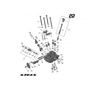 Головка цилиндра ДВС (передняя), квадроцикл Stels Guepard 650G