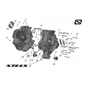 Корпус картера ДВС, квадроцикл Stels Guepard 650G