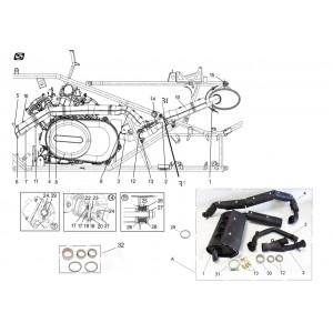 Система выпуска отработавших газов, квадроцикл Stels Guepard 650G