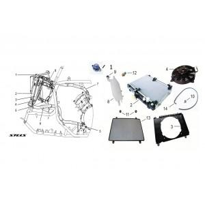 Система охлаждения ДВС, квадроцикл Stels Guepard 650G