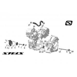 Элементы системы охлаждения ДВС, квадроцикл Stels Guepard 650G