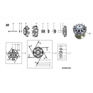 Вариатор, шкив ведущий, квадроцикл Stels Guepard 650G