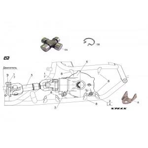 Вал карданный передний, квадроцикл Stels Guepard 650G