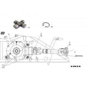 Вал карданный задний, квадроцикл Stels Guepard 650G