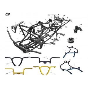 Рама, квадроцикл Stels Guepard 650G