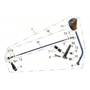 Механизм переключения передач, квадроцикл Stels Guepard 650G