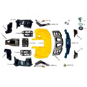 Облицовка корпуса, задняя часть, квадроцикл Stels Guepard 650G