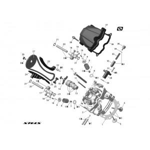 Головка цилиндра ДВС (передняя, с электростартером)