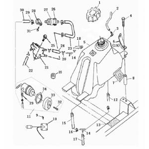 Запчасти топливного бака квадроцикла Stels ATV 300B