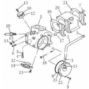 Запчасти цилиндра квадроцикла Stels ATV 300B