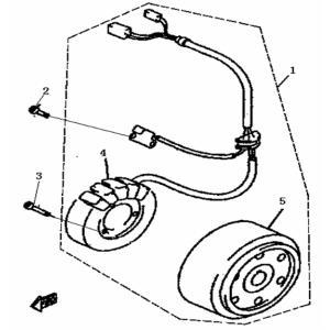 Запчасти магнето квадроцикла Stels ATV 300B