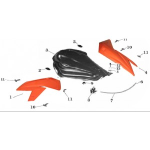 Запчасти топливного бака мотоцикла Stels 600 Benelli