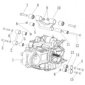 Запчасти двигателя 300 с. с. квадроцикла Stels ATV 300B