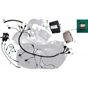 Запчасти электрооборудования двигателя квадроцикла side-by-syde Stels UTV 800V Dominator