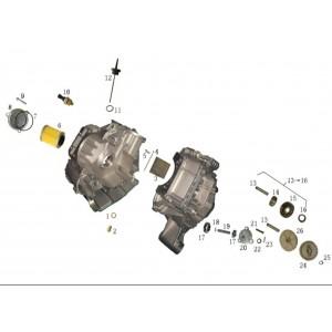 Запчасти масляной системы квадроцикла side-by-syde Stels UTV 800V Dominator