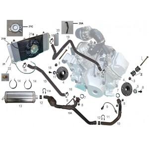 Запчасти элементов систем двигателя квадроцикла side-by-syde Stels UTV 800V Dominator
