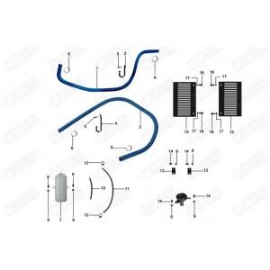Запчасти элементов системы охлаждения квадроцикла side-by-syde Stels UTV 800V Dominator