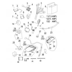 Запчасти электрооборудования квадроцикла Stels ATV 300B