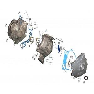 Запчасти картера двигателя квадроцикла side-by-syde Stels UTV 800V Dominator
