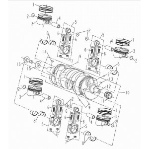 Запчасти кривошипно-шатунного механизма мотоцикла Stels 600 Benelli