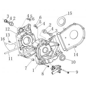 Запчасти картера двигателя квадроцикла Stels ATV 300B