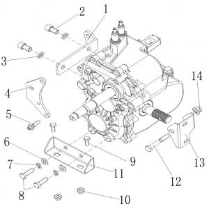 Запчасти креплния КПП квадроцикла Stels ATV 300B