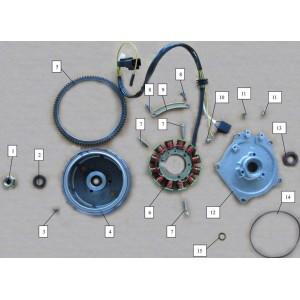 Запчасти магнето квадроцикла side-by-syde Stels UTV 800V Dominator